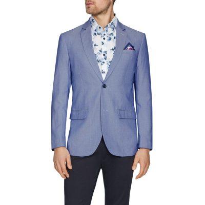 Fashion 4 Men - Tarocash Malibu Textured Blazer Blue Xs
