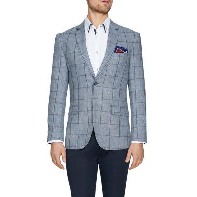 Fashion 4 Men - Tarocash Monterey Check Blazer Navy Xl