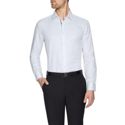 Fashion 4 Men - Tarocash Mustang Jacquard Shirt Ivory S