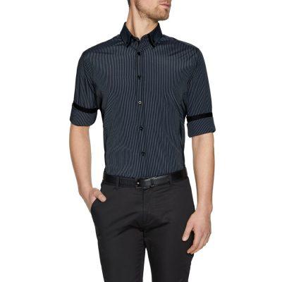 Fashion 4 Men - Tarocash Ortiz Stripe Shirt Charcoal M