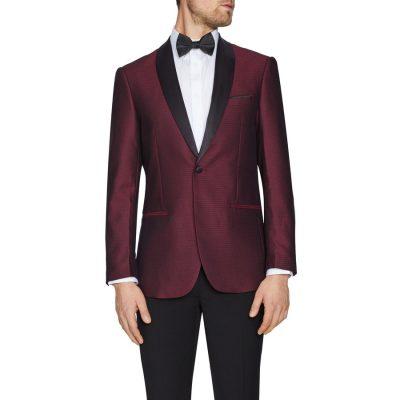 Fashion 4 Men - Tarocash Panther Tuxedo Jacket Burgundy L