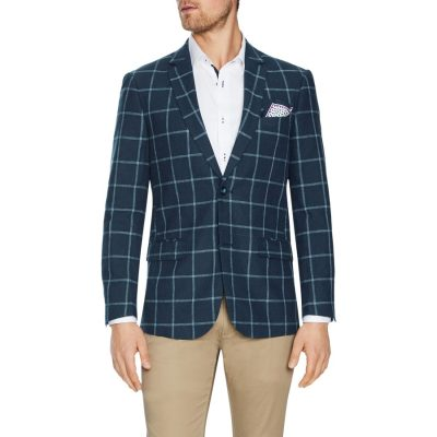 Fashion 4 Men - Tarocash Quincy Check Blazer Navy M