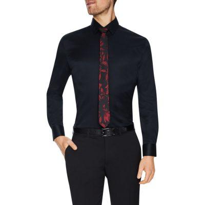 Fashion 4 Men - Tarocash Toby Slim Stretch Dress Shirt Black M