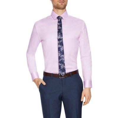 Fashion 4 Men - Tarocash Toby Slim Stretch Dress Shirt Pink Xxl