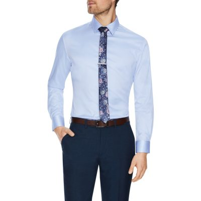 Fashion 4 Men - Tarocash Toby Slim Stretch Dress Shirt Sky M