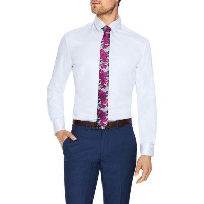 Fashion 4 Men - Tarocash Toby Slim Stretch Dress Shirt White Xxl