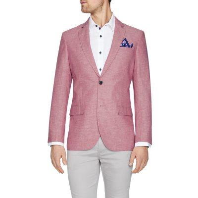 Fashion 4 Men - Tarocash Ventura Linen Blend Blazer Watermelon L