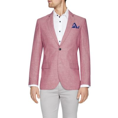 Fashion 4 Men - Tarocash Ventura Linen Blend Blazer Watermelon Xxxl
