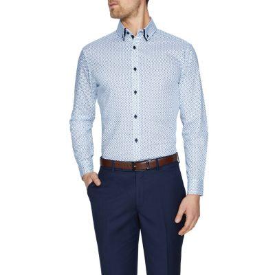 Fashion 4 Men - Tarocash Winx Slim Print Shirt White M