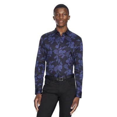 Fashion 4 Men - yd. Elton Slim Fit Shirt Dark Blue M