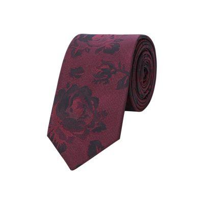 Fashion 4 Men - yd. Frankie Floral 6.5 Cm Tie Burgundy One