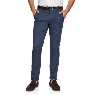 Fashion 4 Men - yd. Geo Print Slim Chino Blue 26