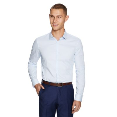 Fashion 4 Men - yd. Halton Slim Fit Dress Shirt Powder Xxl