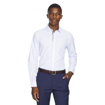 Fashion 4 Men - yd. Kitano Slim Fit Dress Shirt Light Blue L