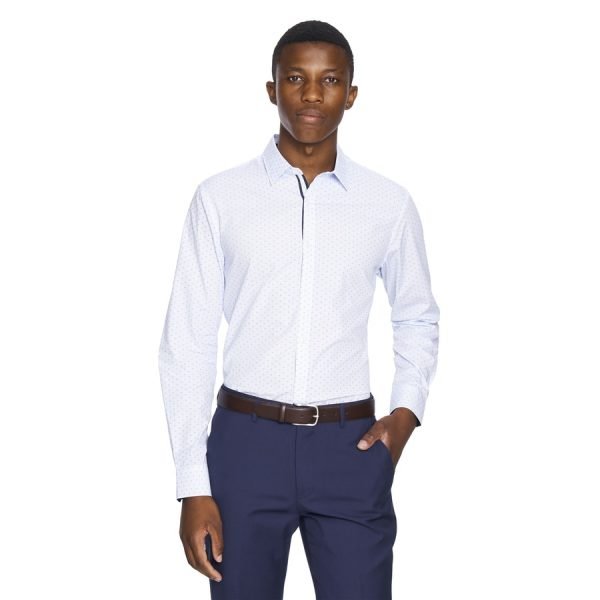 Fashion 4 Men - yd. Kitano Slim Fit Dress Shirt Light Blue S