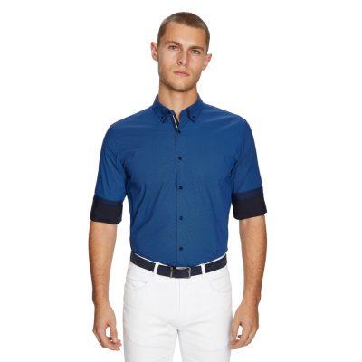 Fashion 4 Men - yd. Leeman Slim Fit Shirt Navy Xxxl