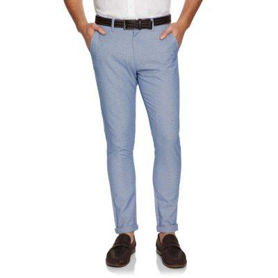 Fashion 4 Men - yd. Lex Textured Skinny Chino Light Blue 36