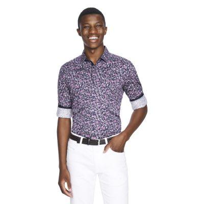 Fashion 4 Men - yd. Roscoe Slim Fit Shirt Burgundy Xl