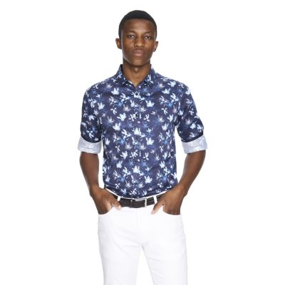 Fashion 4 Men - yd. Samson Slim Fit Shirt Dark Blue M