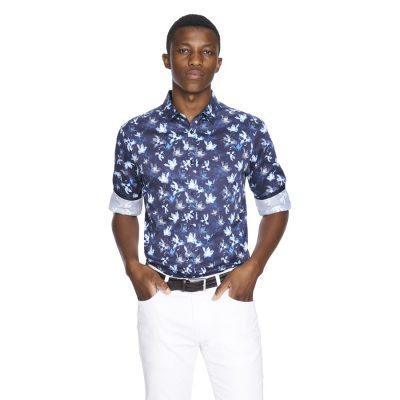 Fashion 4 Men - yd. Samson Slim Fit Shirt Dark Blue Xl