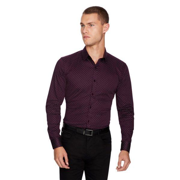 Fashion 4 Men - yd. Vita Slim Fit Shirt Burgundy S