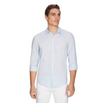 Fashion 4 Men - yd. West Hampton Shirt Ice Blue M