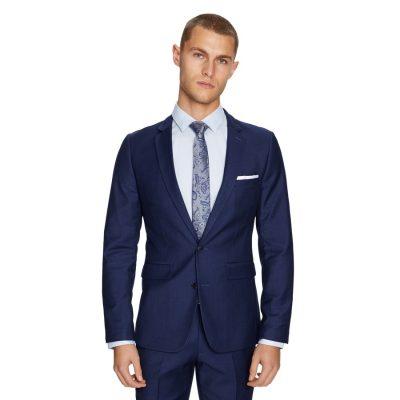 Fashion 4 Men - yd. Wraith Slim Suit Jacket Oxford Navy 46