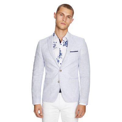 Fashion 4 Men - yd. York Linen Blazer Ice Blue 2 Xs