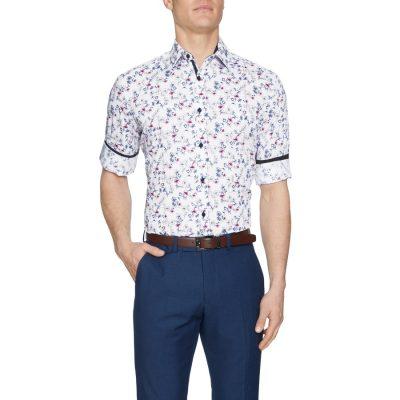 Fashion 4 Men - Tarocash Blane Floral Print Shirt White Xxl