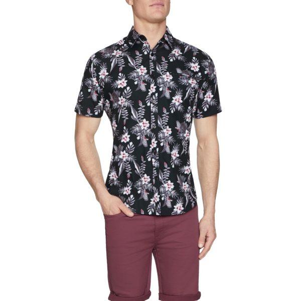 Fashion 4 Men - Tarocash Cider Floral Print Shirt Black L