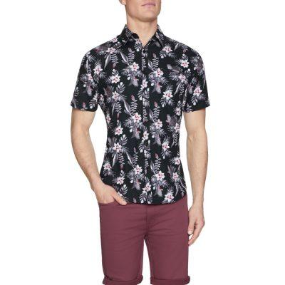 Fashion 4 Men - Tarocash Cider Floral Print Shirt Black Xxxl