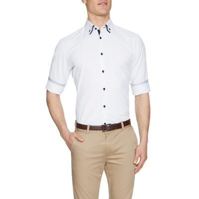 Fashion 4 Men - Tarocash Dover Textured Shirt White L