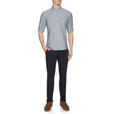 Fashion 4 Men - Tarocash Elliott Linen Blend Shirt Grey M