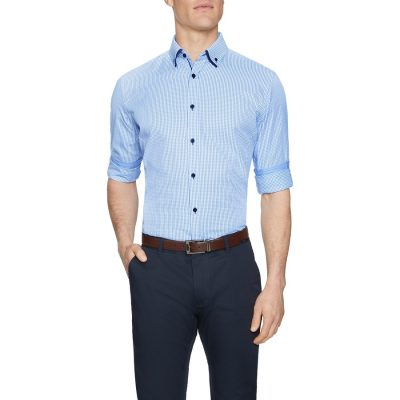 Fashion 4 Men - Tarocash Hampstead Check Shirt Blue 4 Xl