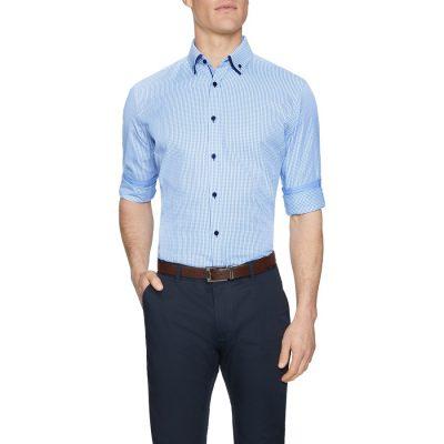 Fashion 4 Men - Tarocash Hampstead Check Shirt Blue 5 Xl