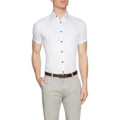 Fashion 4 Men - Tarocash Jason Muscle Fit Shirt White L
