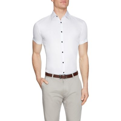 Fashion 4 Men - Tarocash Jason Muscle Fit Shirt White S