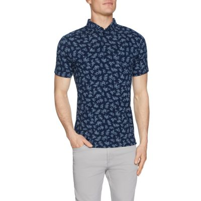 Fashion 4 Men - Tarocash Madrid Print Polo Navy S