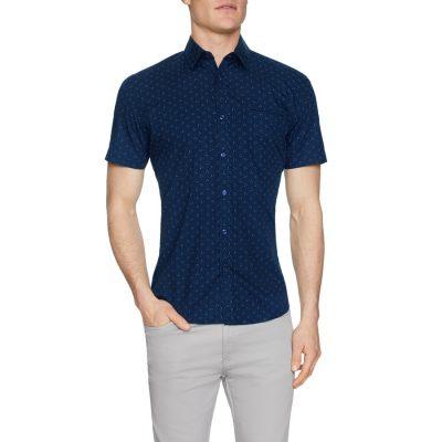 Fashion 4 Men - Tarocash Pisces Print Shirt Navy S