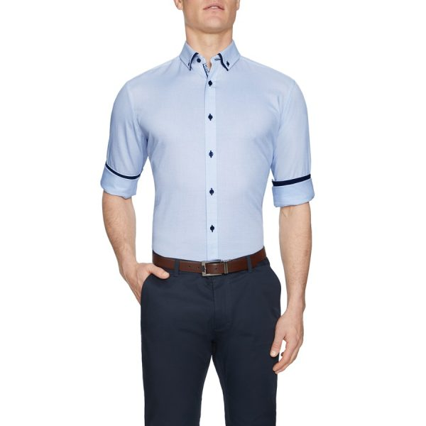 Fashion 4 Men - Tarocash Ryder Textured Shirt Sky Xxl