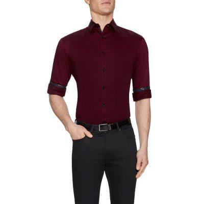 Fashion 4 Men - Tarocash Vallen Slim Stretch Shirt Red L