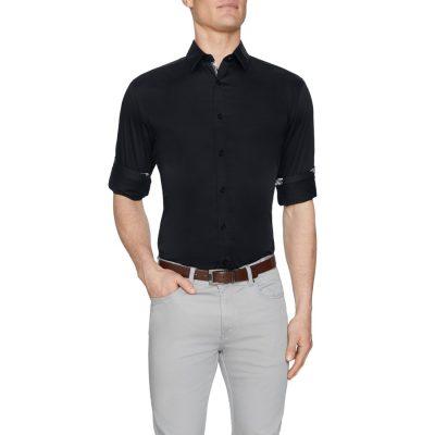 Fashion 4 Men - Tarocash Zander Slim Stretch Shirt Black S