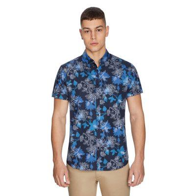 Fashion 4 Men - yd. Adams Floral Shirt Blue Xl