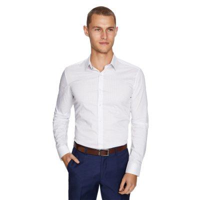 Fashion 4 Men - yd. Akron Slim Fit Dress Shirt White S