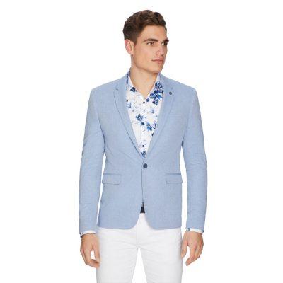 Fashion 4 Men - yd. Alfie Textured Blazer Powder Blue Xs