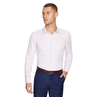 Fashion 4 Men - yd. Aramac Slim Fit Dress Shirt Light Pink S