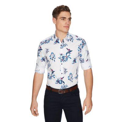 Fashion 4 Men - yd. Bahama Slim Shirt White M