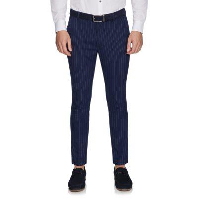 Fashion 4 Men - yd. Beckford Stripe Skinny Chino Navy 30