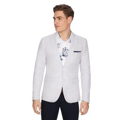 Fashion 4 Men - yd. Boston Linen Blazer Stone Xs