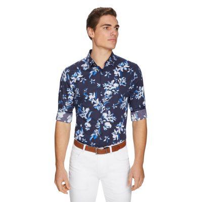Fashion 4 Men - yd. Casta Slim Shirt Dark Blue S